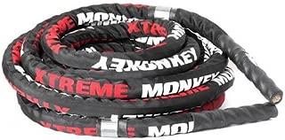 50' Premium Battle Rope W/Sleeve, Aluminum Handles - 1.5