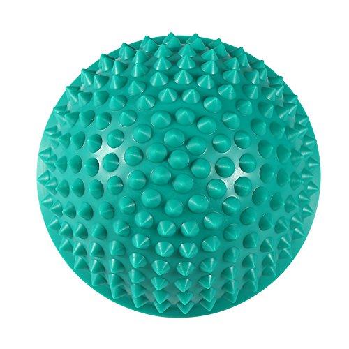 Pelota de masaje de PVC de media caña, pelotas de ejercicio de terapia, pod de equilibrio, pie, fitness, ballet, pelotas de yoga, ejercicio, aeróbicos, masajeador, herramienta de automasaje, 5 colores