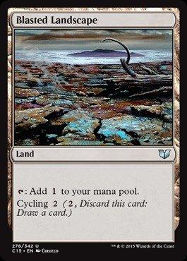Magic The Gathering - Blasted Landscape (278/342) - Commander 2015