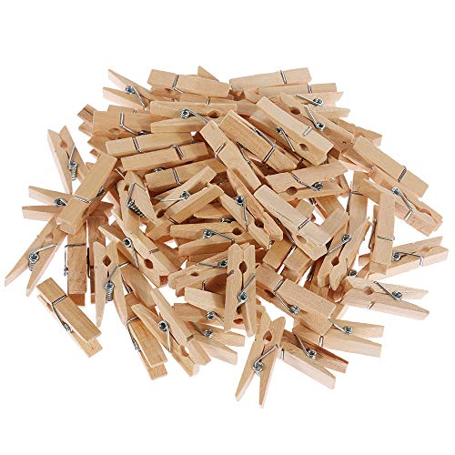 Goldge 100 Piezas Mini Pinzas de Madera Decorativa de 3,5cm para Decorar
