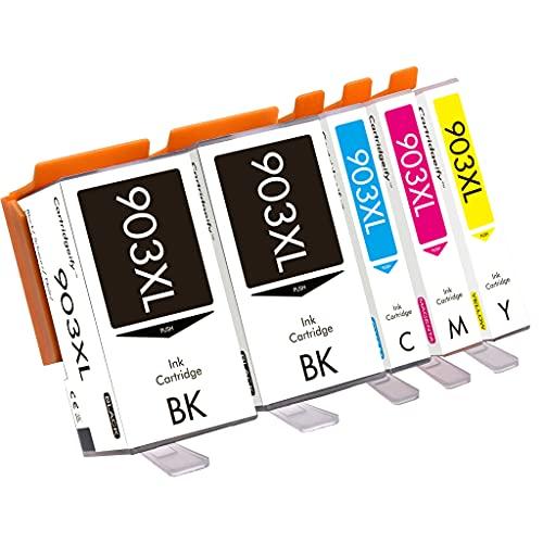 Cartridgeify Cartucce per stampante 903XL Compatibile con HP 903 903 XL Cartucce d'inchiostro Multipack, per OfficeJet 6950, OfficeJet Pro 6960, 6970 (2x Nero, Ciano, Magenta, Giallo)