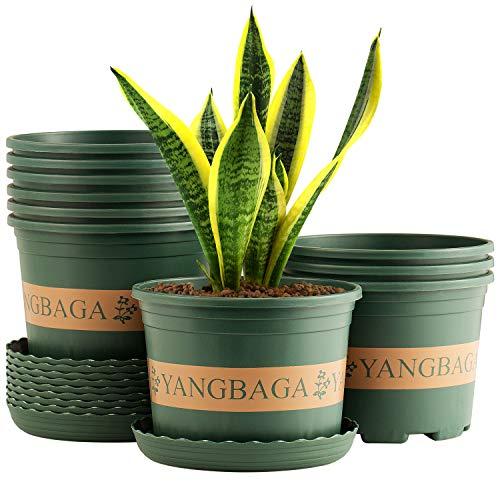 Yangbaga 10pcs Macetas de Jardín de Plástico Maceta de Vivero Duradera, Maceta de Jardín Maceta...