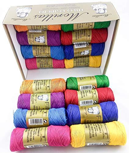 ▷ Pack de 16 Zepelines Ne 8/2 surtido colores oscuros de algodón perlé 100% egipcio mercerizado para tejer labores de ganchillo o punto con un acabado elegante.