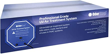 OdorStop UV Air Treatment System (OS144PRO w/Air Flow Sensor) - 144 Watt System with Energy Saving Airflow Sensor That Utilizes UV Light to Kill Odors, Mold, Bacteria and Viruses in HVAC Systems