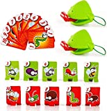 WFWJ Funny Tic Tac Tongue Board Games,Tongue Catch Bugs Game,Lizard Tongue Eating Pest Board Game,Frog Catch Bugs Toys,Educational Toy Gift for Kids,Funny Family Desktop Game Interactive Toys