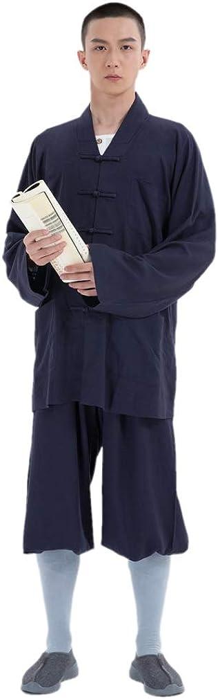 DGXIN Unisex Buddhism Monk Suit