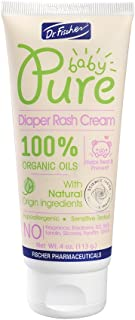 Pure Baby Diaper Rash Cream by Dr. Fischer with 100% Organic Oils & 98% Natural Origin Ingredients