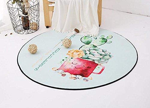 Creative Light Tapis de Style Rond de Style européen Tapis de Fauteuil Simple et Moderne pour Ordinateur Home Living Roomside Blanket (Taille : Diameter 100cm)