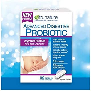 TruNature Digestive Probiotic Capsules, 100 Count