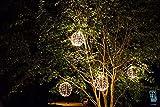Elf Logic - Outdoor LED 16' Light Balls (3 Pack) Hanging Tree Globe Light - Outdoor Light Balls (3 Pack - 16' Balls)