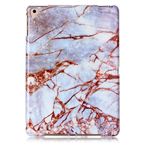 Uliking Case for Apple iPad 9.7 2018 2017 (iPad 6th/5th Gen), iPad Air/Air 2/iPad Pro 9.7 2016 Cover,Ultra Slim Lightweight Flexible TPU Back Shockproof Soft Shell [Drop Protection], White Gold Marble