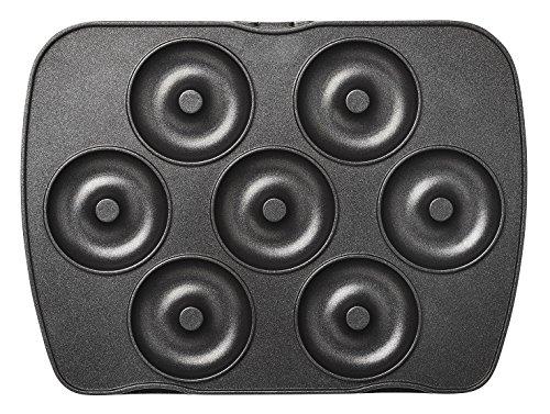 lagrange Jeu de plaque Mini-donuts/Mini Bagels pour Gaufrier Premium Noir