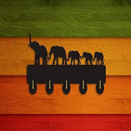 DDSGG Gancho de la capa de la pared Ganchos Bastidores Creativo gancho de la capa ganchos 5 diseño decorativo elefante sombrero/bolsa/ropa cocina baño pared colgador creativo gancho de pared