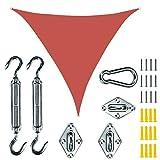 FASEY 16.5 'x 16.5' X 16,5 'Triangolo A Colori di Sabbia Triangolo Parasole Vela per Il Blocco UV del Patio per Struttura All'aperto E attività (Color : G, Size : 16.5' x 16.5' x 16.5')