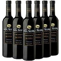 Pata Negra Crianza Vino Tinto D.O Valdepeñas, Volumen de Alcohol 12.5% - Pack de 6 Botellas x 75 cl