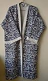 Indian Handmade 100% Pure Cotton Kantha Kimono, Hand Printed Indian Handmade Kimono Women's Dressing Block Printed Indian Robes, Comfort wear Kantha Kimono Indian Robes