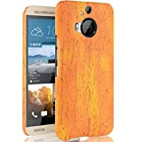 HTC One M9+ Wooden Style Case, Vivid Colorful Print Wood
