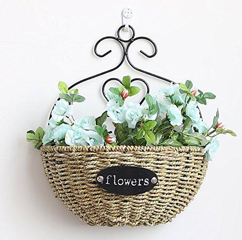 LLPXCC Faux Fleurs Accueil création florale table à manger salle de séjour modernes simples de style européen fleurs décoratives wall hanging fleurs tisser des paniers de fleurs plantes roses bleu