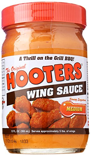 HOOTERS SAUCE WING MEDIUM, 12 OZ by Hooters
