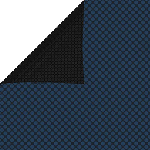 UnfadeMemory Cubierta Solar de Piscina,Funda de Piscina,PE (Negro y Azul, 260x160cm)