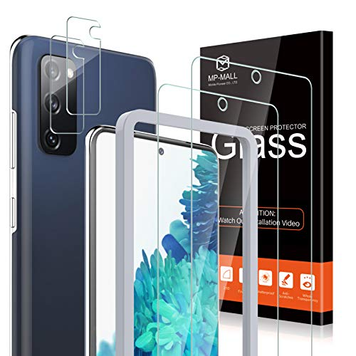 4 Pack MP-MALL 2 Pack Tempered Glass Screen Protector + 2 Pack Clear Camera Lens Protector...