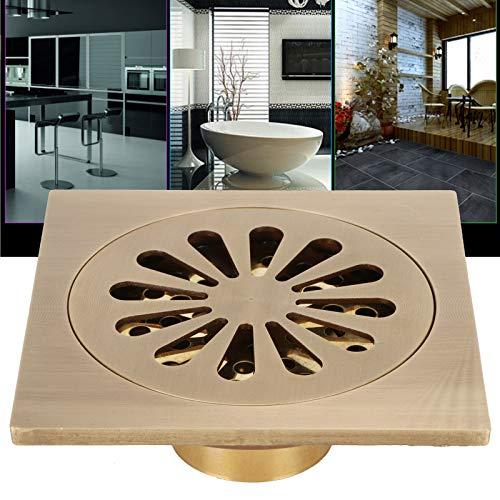 Desagüe de baño, material de cobre Sistema de drenaje de suministro de baño Diseño de apariencia retro europeo para cocinas Baños, garajes, sótanos, inodoros
