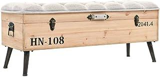 vidaXL Ławka ze skrzynią z litego drewna MDF 120 x 40 x 50 cm ławka do siedzenia ława skrzynia