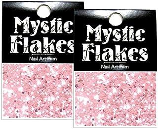 ミスティックフレース ネイル用ストーン メタリックLtピンク サークル 1mm 0.5g 2個セット