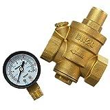 JUNYYANG Con Detector de Paso de Cobre Amarillo Ajustable de presión de Agua DN20 La reducción de 4 Pulgadas Bomba del Filtro 3 / válvula Tubo
