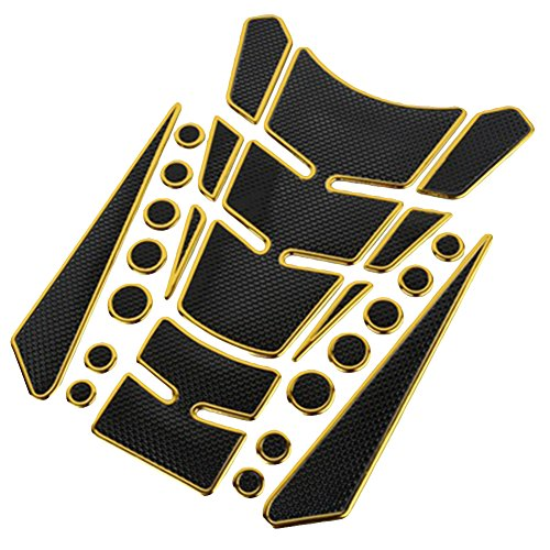 Porfeet Motorradaufkleber, 3D Gas Tank Tank Pad Schutz Motorradaufkleber Aufkleber Kompatibel Mit Honda Yamaha Suzuki Golden