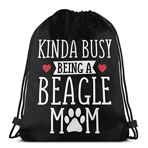 Busy Beagle Mom Drstring Bapa Sports Gym Borsa da viaggio Sapa per bambini Uomo Donna