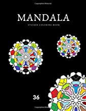 MANDALA sticker coloring book: broken circles adult coloring book