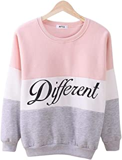Autumn And Winter Women Printed Letter Different Women Casual Sweatshirt Hoodies Coats- Size S