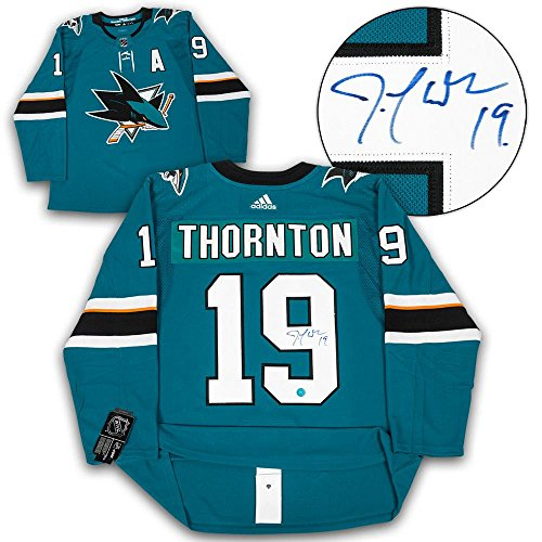 Joe Thornton San Jose Sharks Autographed Adidas Authentic Hockey Jersey - Autographed NHL Jerseys