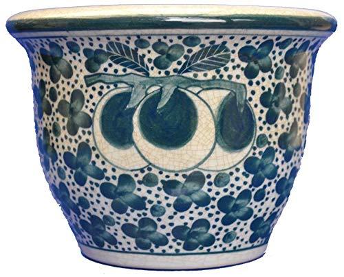 Unbekannt Pot de Fleurs en céramique Peint à la Main en Thaïlande Design Haut de Gamme avec sous-Verre