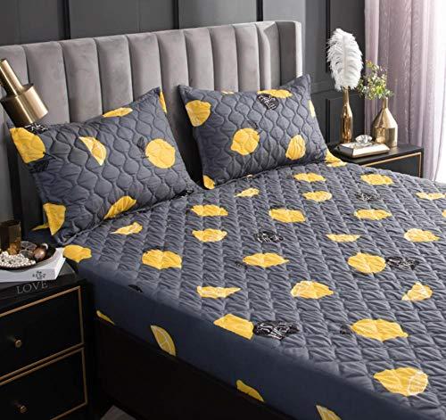 XLMHZP Transpirable Protector de colchón,Funda de colchón Impermeable Acolchada Entallada de Diferentes tamaños colchón Protector de Piso Estilo Cubierta de colchón Grueso-N_180x200cm+30cm