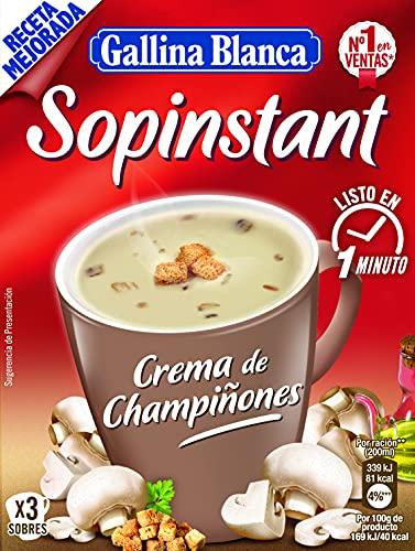 Gallina Blanca Sopinstant Crema de Champiñones con Picatostes, 58.5g