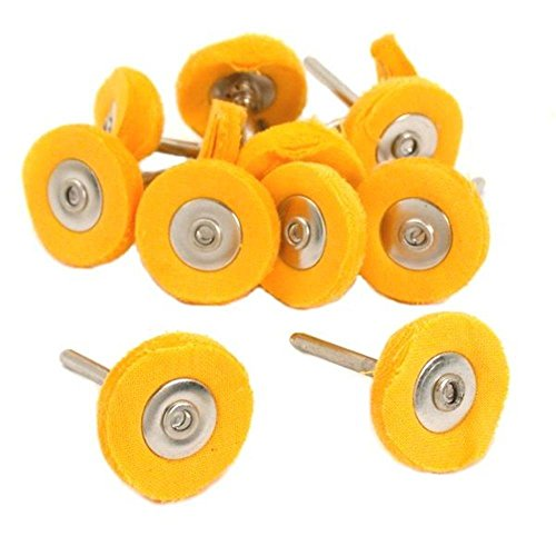 Preamer 20 Pcs Yellow Muslin Polishing Buffing Wheel , 1/8 Shank , Fit Dremel Rotary Tool