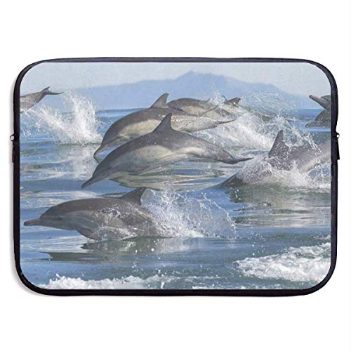 13 Inch Laptop Sleeve Briefcase Ocean Dolphins Best Neoprene Waterproof Handbag Protective Bag Cover Case for Surface Laptop/Notebook/Acer/Asus/Dell/Lenovo/iPad/Surface Book