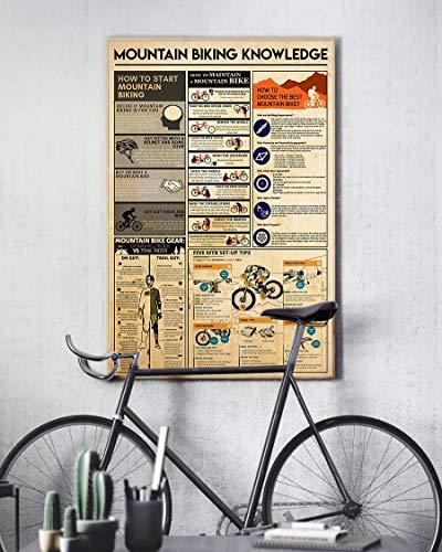 HolyShirts Mountain Biking Knowledge Mountain Bike Gear Poster (16 inches x 24 inches)