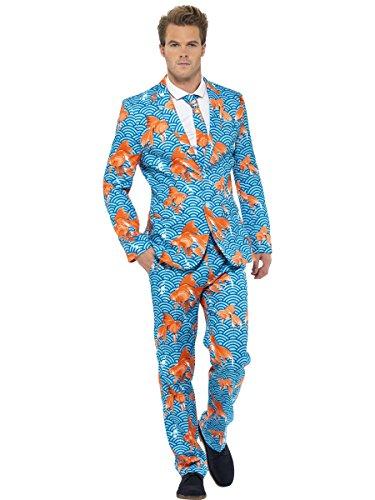 """Smiffys mens Goldfish Suit, Blue, L - US Size 42""""-44"""""""