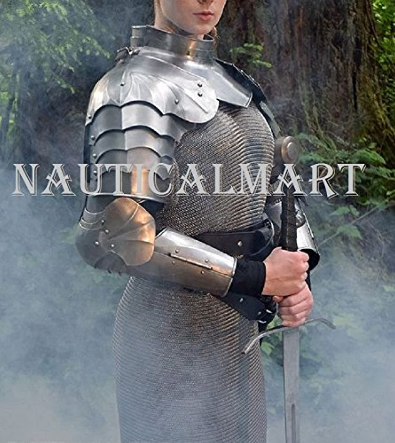 NAUTICALMART Complete Medieval Arms Armor Set with Chainmail