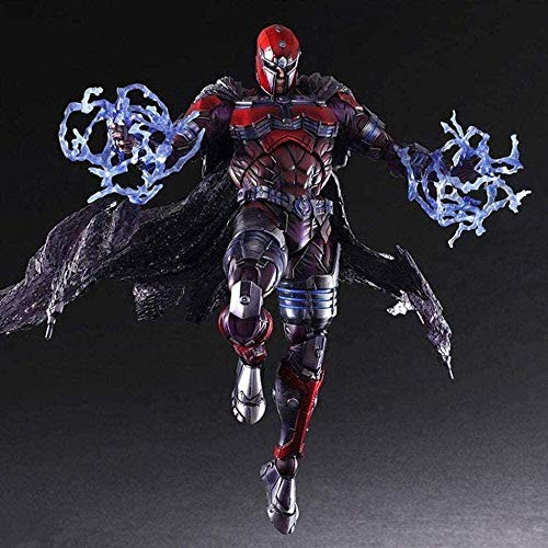 Mdcgok DC Heroes X - Man Magneto Atcion Figure Collection by PA Kai - Equipped with Rich Weapons and Interchangeable Hands 10 6 Inches