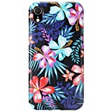 GOLINK Case for iPhone XR, Matte Finish Floral Series Slim-Fit Ultra-Thin Anti-Scratch Shock Proof Dust Proof Anti-Finger Print TPU Gel Case for iPhone XR 6.1 inch(Purple Hibiscus)