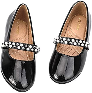 nerteo Girls Mary Jane Ballerina Flat Dress Shoes Little...