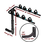 "Swing Away Hitch Mount Bike Rack for 4 Bikes - Fits 2"" Receivers"