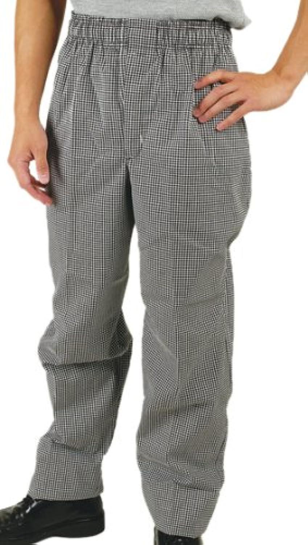 Phoenix Check Elastic Waist Chef's Pants, Medium