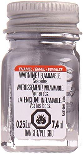 Testors Enamel Paint Flat Aluminum 1 4 Ounce product image