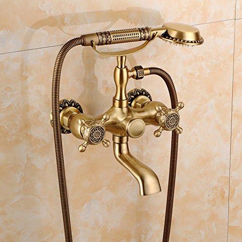 Gyps Faucet Waschtisch-Einhebelmischer Waschtischarmatur BadarmaturAlle Kupfer Antik Dusche Retro Set Dusche Badewanne Armatur Große Regendusche,Mischbatterie Waschbecken