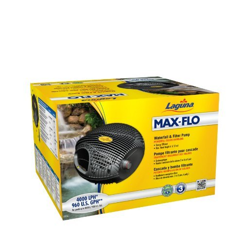 Laguna Max-Flo 960 Waterfall and Filter Pump for Ponds Up to 1920-Gallon Outdoor, Home, Garden, Supply, Maintenance